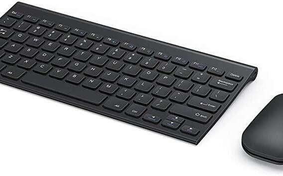 Seenda Rechargeable Wireless Keyboard Mouse Combo - Ultra Thin Keyboard